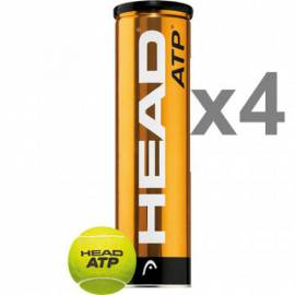 BOITE 4 BALLS TENNIS HEAD ATP OFFICIAL